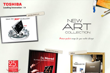 Toshiba &#8211; New Art Collection Microsite