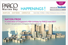 PARCO Marina Bay &#8211; Email Marketing