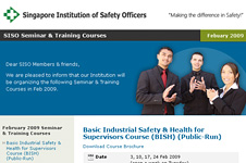 Singapore Institution of Safety Officers &#8211; E-Direct Mailer