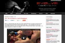 Evolve MMA Blogger template