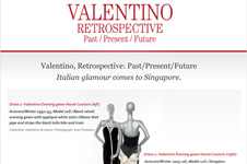 Resorts World Sentosa &#8211; Valentino Retrospective eCard Application