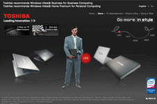 Toshiba &#8211; Do More In Style Microsite 2008