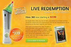 Xbox LIVE &#8211; Platinum Hits Game Redemption Campaign